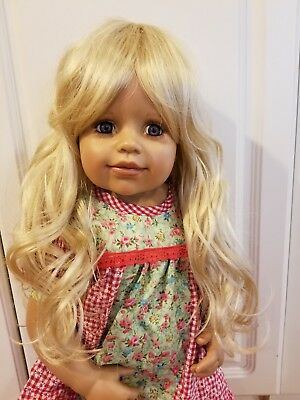 "NWT Monique Violet Pale Blonde Doll Wig 16-17/"" fits Masterpiece Doll WIG ONLY"