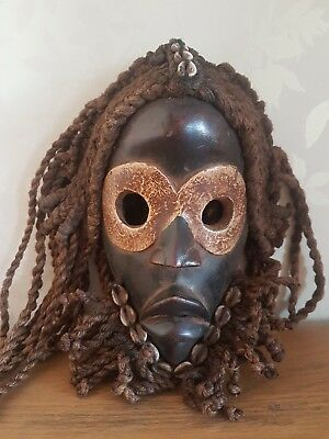 Superbo and used African Dan Gunyege wood mask. Old example. Ivory Coast