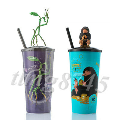Fantastic Beasts Crimes of Grindelwald Bowtruckle Niffler w/Gold Coin Topper Cup