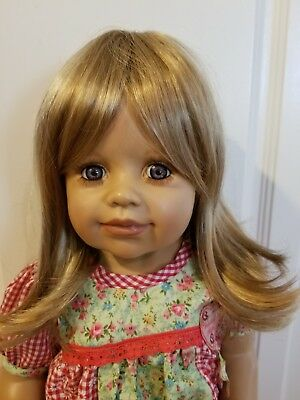"NWT Monique Beth Brown/Blonde Doll Wig 16-17"" fits Masterpiece Doll(WIG ONLY)"