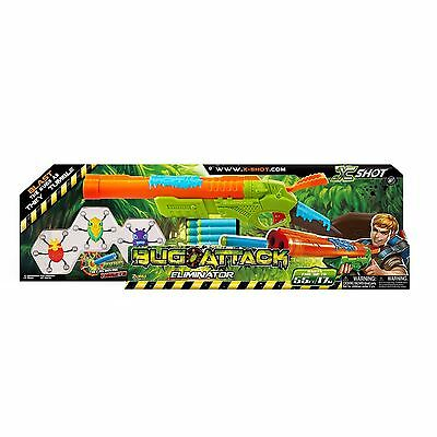 Zuru X-Shot Bug Attack Eliminator Dart Blaster Boys Soft Play Foam Toy Gun 8YR +