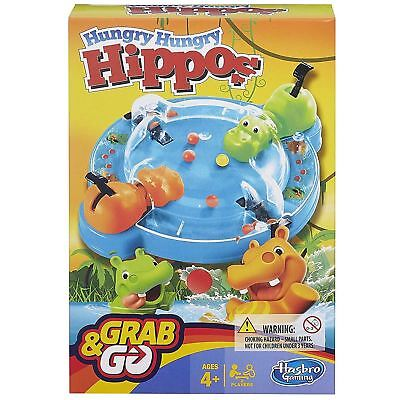 Hasbro Gaming Hungry Hippos Elefun & Friends Grab & Go Classic Travel Board Game