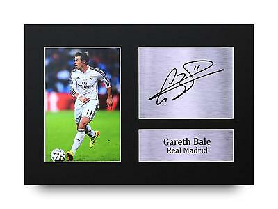 Gareth Bale Gift Signed A4 Printed Autograph Real Madrid Gifts Print  Photo