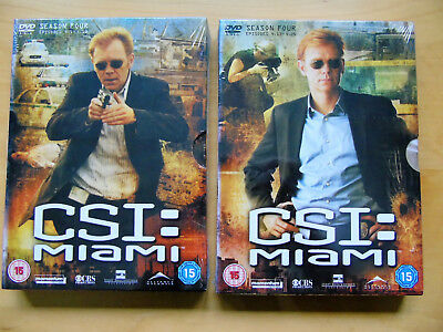 Csi Miami - Complete Season 4 On Dvd - Uk Purchased - New And Sealed - Bargain
