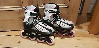 Girls SFR VORTEX inline skates/roller blades adjustable size UK 12 - 2