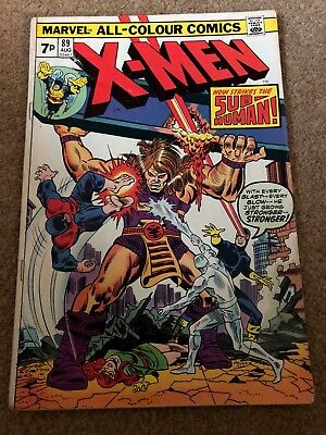 """The X-Men #89_August 1974 """"now Strikes The Sub-Human""""_Bronze Age Marvel_Uk!"""