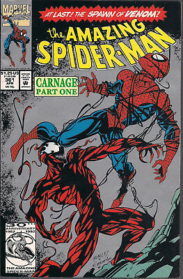 Amazing Spider-Man 361 2nd Print FINE+ 1992 1st Appearance Carnage KEY ISSUE!!