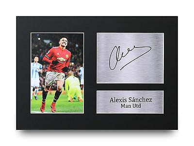 Alexis Sanchez Gift Signed A4 Printed Autograph Manchester Utd Gifts Print Photo