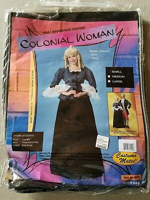 H NEW Adult Costume Mates Colonial Woman Masquerade Halloween Costume Size S