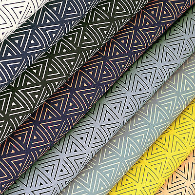 Cotton Fabric FQ Triangle Labyrinth Maze Delta Graphic Quilting Patchwork VK117