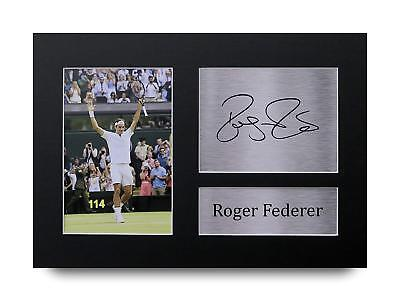 Roger Federer Gift Signed A4 Printed Autograph Tennis Gifts Print Pictures Photo