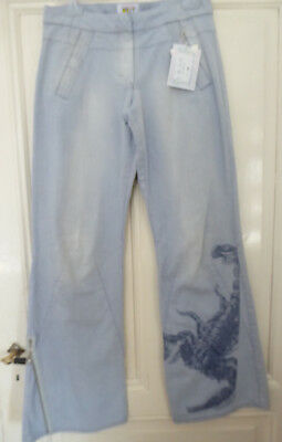 W.&L.T. flared and imprinted scorpio Walter van Beirendonck vintage jeans W&LT