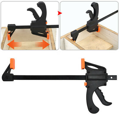 UK 1/5/10X Woodworking Clip Bar F Clamp Grip Quick Ratchet Release Squeeze Tools