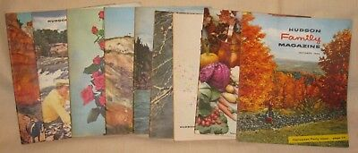 Lot of 9 Hudson Family Magazines from 1955 & 1956, Automobile Advertising