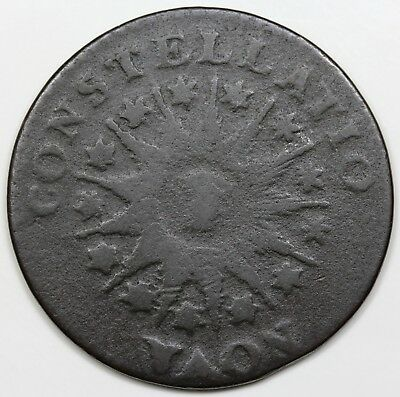 1785 Nova Constellatio Copper, Pointed Rays, F-VF detail