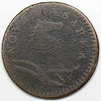 1786 New Jersey Copper, VG detail