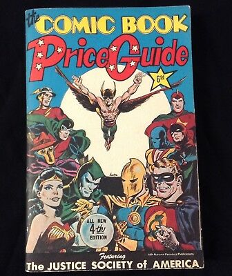 """1974 Overstreet's """"Comic Price Guide"""" #4 unread/nm Justice Society of America"""