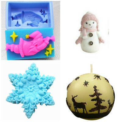 4 Christmas Soap & Candle Silicone Moulds Pack No 5