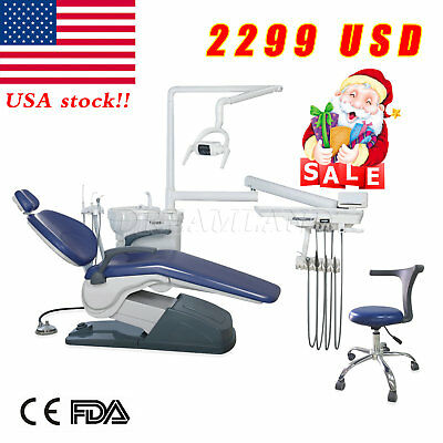 US Dental Unit Chair Computer Controlled Auto Built-in Water purified system CE