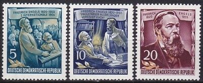 Germany Ddr 1955 - Friedrich Engels Part Set - Mi 485,486,488 - Mnh