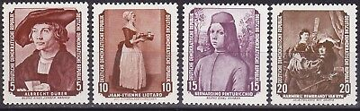 Germany Ddr 1955 - Paintings Part Set - Mi 504-507 - Mnh