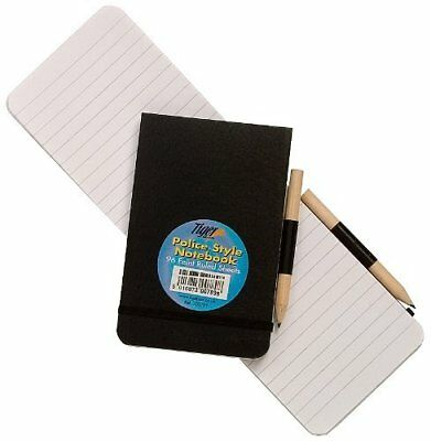 Police Style Notebook Elasticated Stiff Cover with FREE Pencil 96 Sheet Note Pad