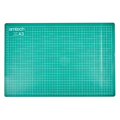 NON SLIP CUTTING MAT GRID PRINTING AMTECH LINES KNIFE BOARD CRAFT A2 A3 A4 or A5