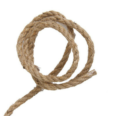 15M 6mm Jute String Twine Burlap Hemp Cord Rope Garden Horticulture DIY Decor