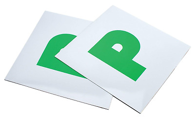 2 x FULLY MAGNETIC SECURE GREEN NEW DRIVER P PLATES JUST PASSED FOR CAR VEHICLE