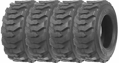 FOUR (4) New 10X16.5  SKID STEER Tires 10-16.5 BOBCAT LOADER 10 16.5 HD LOADMAXX