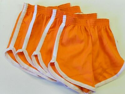 "LOT 4 Pair NOS '70's-'80's Youth (Rick)Gym/Team/Workout Shorts. S. 20""-22"" Waist"