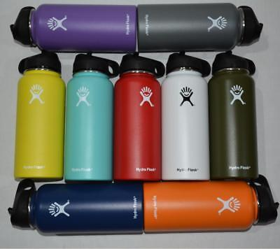Hydro Flask Water Bottle Stainless Steel Insulated Wide Mouth Straw Lid Handle