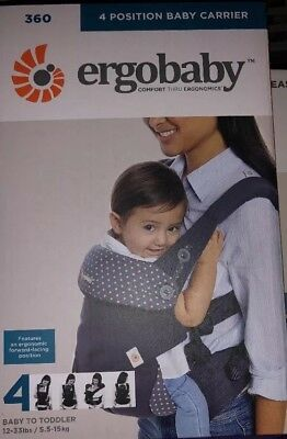 Grey With Orange Polkadots ergo 360 baby carrier New
