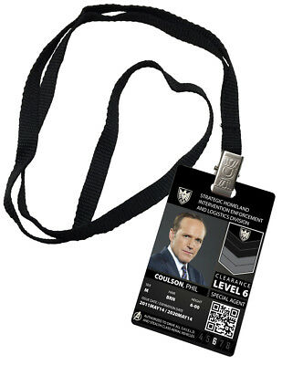 Phil Coulson Agents of Shield Special Agent Prop Novelty ID Costume