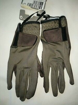 FOUGANZA Kids Brown Horse Riding Decathalon Gloves Size 8-10 Years BNWT