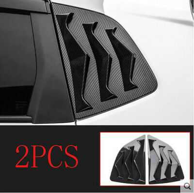 For 2015-2018 Honda FIT JAZZ ABS carbon fiber Rear Triangle Shark Shutters 2PCS