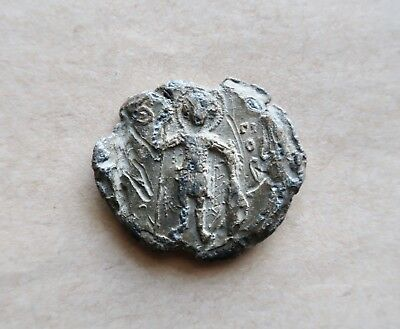 BYZANTINE LEAD SEAL/ BLEISIEGEL OF MAGISTER APNELGARITES (11th cent.).EXCELLENT!