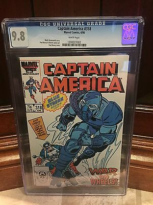 Captain America #318 Cgc 9.8 Nm/mt Paul Neary Cover ~ White Pages