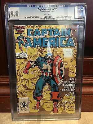 Captain America #319 Cgc 9.8 Nm/mt Paul Neary Cover Art ~ White Pages