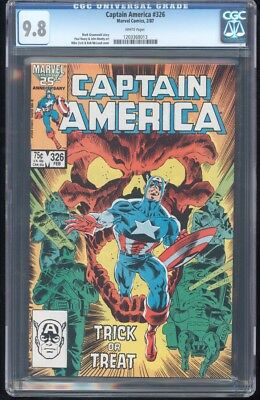 Captain America #326 Cgc 9.8 Nm/mt Mike Zeck Cover ~ White Pages