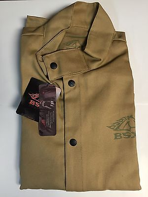 Black Stallion BSX BXTN9C Khaki FR Cotton Welding Jacket XL
