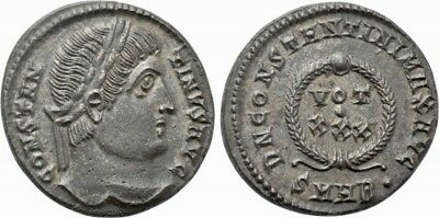 Constantine I the great (307/310-337). Bronze Follis. Heraclea. Excellent coin!