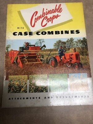 Case Crops With Case Combines Attachment & Adjustments Book Form 5848 12-51