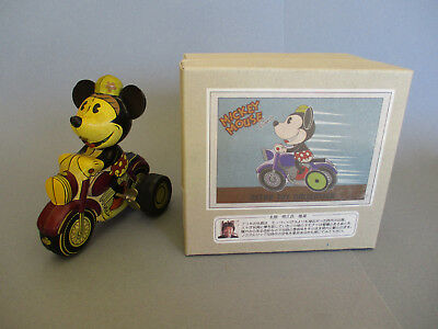 Tin wind-up Toy Minnie Mouse Bike, retro toy collection, Young epoch Co.LTD