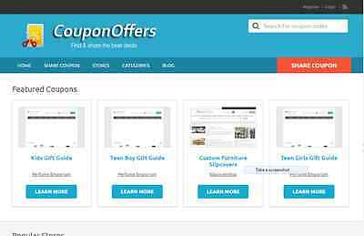 Fabulous Coupon Website Free Installation+Hosting