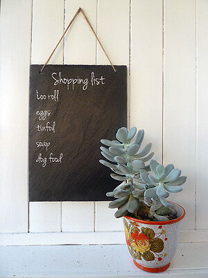 NATURAL SLATE Chalk BOARD Drawing Sign Shopping//To Do List Message wedding sign