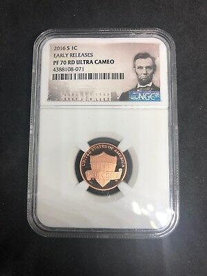2016 S Lincoln Cent PF 70 RD NGC Early Releases Ultra Cameo label