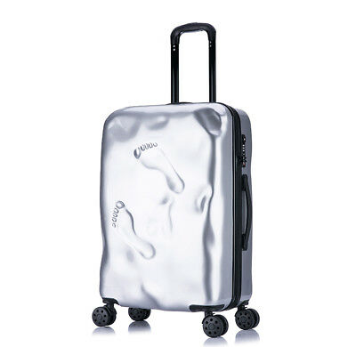 D969 Silver Coded Lock Universal Wheel Travel Suitcase Luggage 24 Inches W