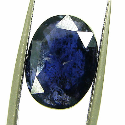 6.55 Ct Certified Natural Iolite Loose Gemstone Oval Stone - 108673