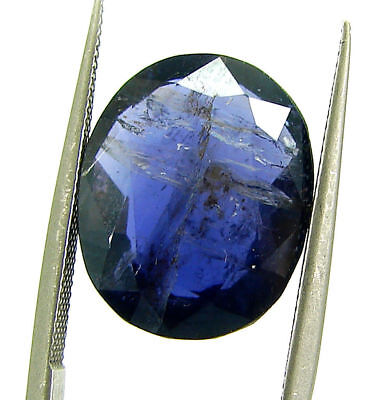 6.20 Ct Certified Natural Iolite Loose Gemstone Oval Stone - 108649